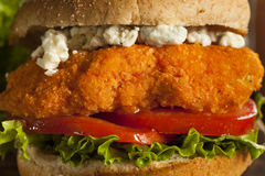 Homemade Buffalo Chicken Sandwich Royalty Free Stock Image