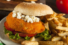 Homemade Buffalo Chicken Sandwich Royalty Free Stock Images