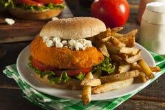 Homemade Buffalo Chicken Sandwich Royalty Free Stock Photo