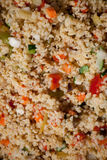 Homemade bulgur with vegetables close up Stock Photography