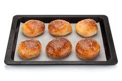 Homemade bun for burger Royalty Free Stock Photos