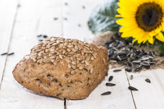 Homemade Bun with Seeds Royalty Free Stock Photo
