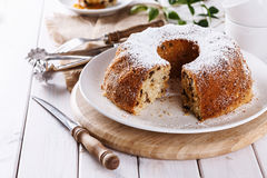 Homemade Bundt Cake with raisins Stock Images