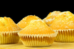 Homemade Buns With Black Background Royalty Free Stock Image