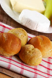 Homemade buns with decoration Stock Images