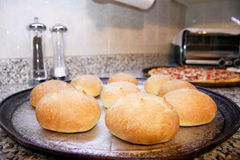 Homemade buns Stock Images