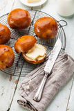 Homemade buns with raisins Stock Images