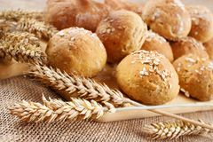 Homemade buns Stock Photography
