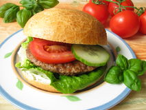 Homemade Burger Stock Images