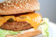 Homemade burger, close-up stock photography