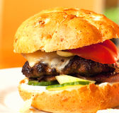 Homemade burger Stock Photography
