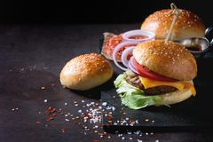 Homemade Burger Royalty Free Stock Photography