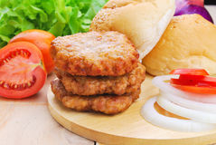 Homemade burger,hamburger with vegetable Royalty Free Stock Image