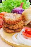 Homemade burger,hamburger with vegetable Stock Image