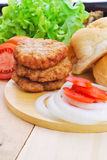 Homemade burger,hamburger with vegetable Royalty Free Stock Photo