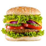Homemade burger isolated Royalty Free Stock Image