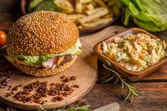 Homemade burger Royalty Free Stock Image