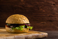 Homemade burger Royalty Free Stock Photo