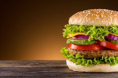 Homemade burger Stock Image