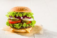 Homemade burger Royalty Free Stock Photography