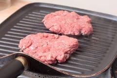 Homemade burgers Stock Photography