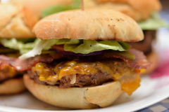 Homemade burgers Royalty Free Stock Images