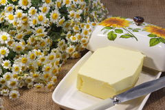 Homemade butter Stock Image