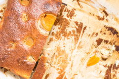 Homemade cake with apricots Royalty Free Stock Images