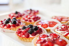 Homemade cake with berries Royalty Free Stock Photo
