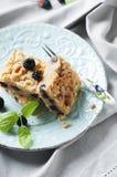 Homemade cake with blackberry Stock Photos