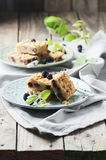 Homemade cake with blackberry Royalty Free Stock Image