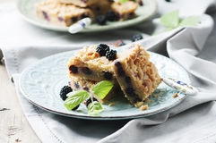 Homemade cake with blackberry Stock Photo