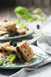 Homemade cake with blackberry Royalty Free Stock Images