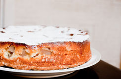 Homemade cake in the dish on the table Stock Photo
