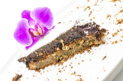 Homemade cake with a flower Royalty Free Stock Photo