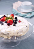 Homemade cake with fresh berries Royalty Free Stock Photography