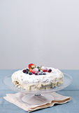 Homemade cake with fresh berries Royalty Free Stock Images