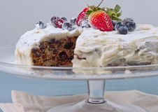 Homemade cake with fresh berries Stock Image