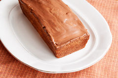 Homemade cake with glaze of chocolate Royalty Free Stock Photography