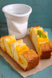 Homemade cake with mango Royalty Free Stock Photography