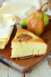Homemade cake with pears Royalty Free Stock Image