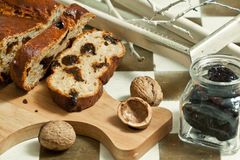 Homemade cake with prunes Stock Photography