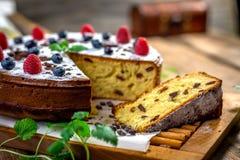 Homemade cake with raisin Stock Photo