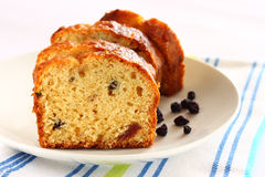 Homemade cake with raisins Royalty Free Stock Images