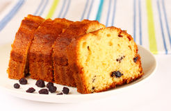 Homemade cake with raisins Royalty Free Stock Image