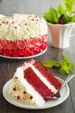 Homemade cake Red Velvet Stock Photo