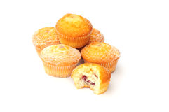 Homemade cakes. Shot of some home made sponge cakes on white Royalty Free Stock Photos