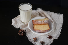 Homemade cakes for Breakfast Royalty Free Stock Photos