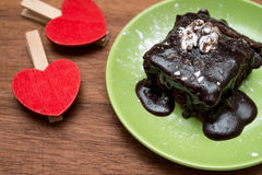 Homemade cakes. With chocolate and nuts Royalty Free Stock Photos