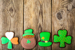 Homemade cakes on the day of St. Patrick Royalty Free Stock Photography